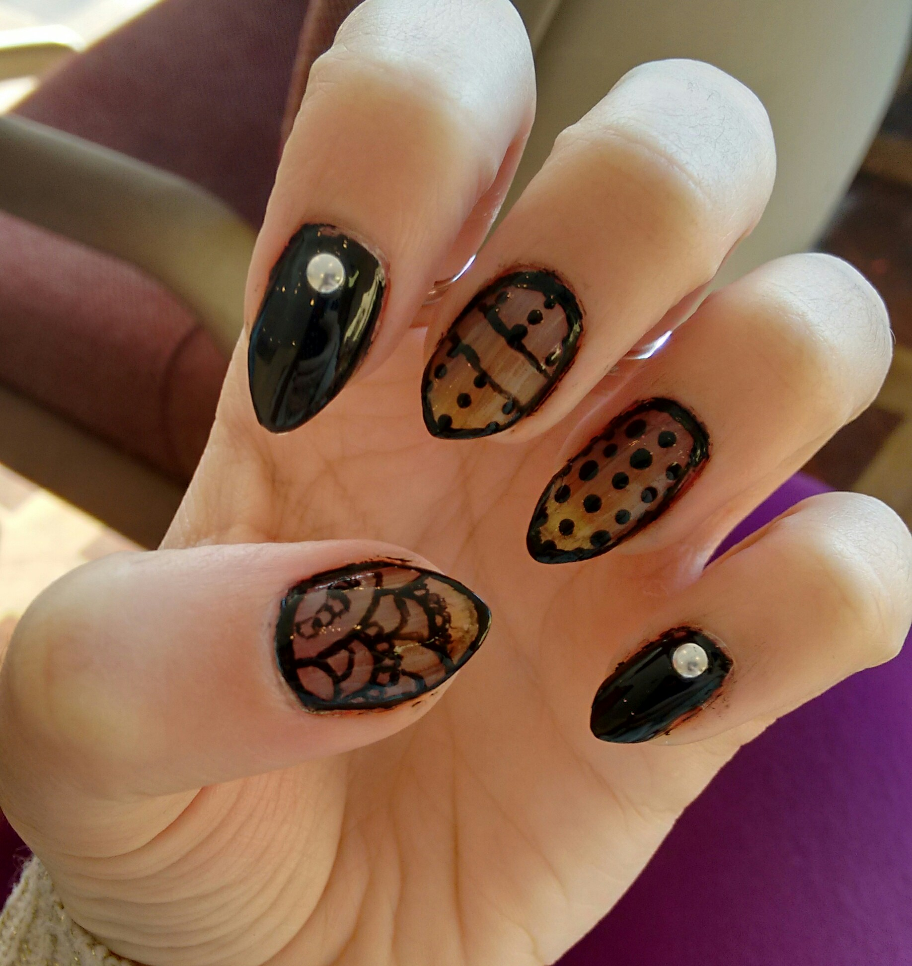 Sheer Black Nails – stephanie chaparro